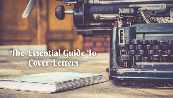 Cover letters and typewriter