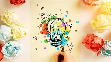creative bulb drawing on paper