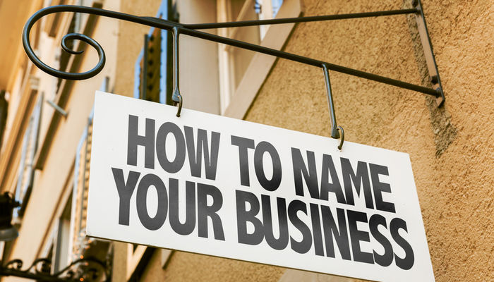 Business name sign
