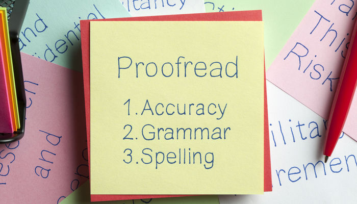 Proofreading note