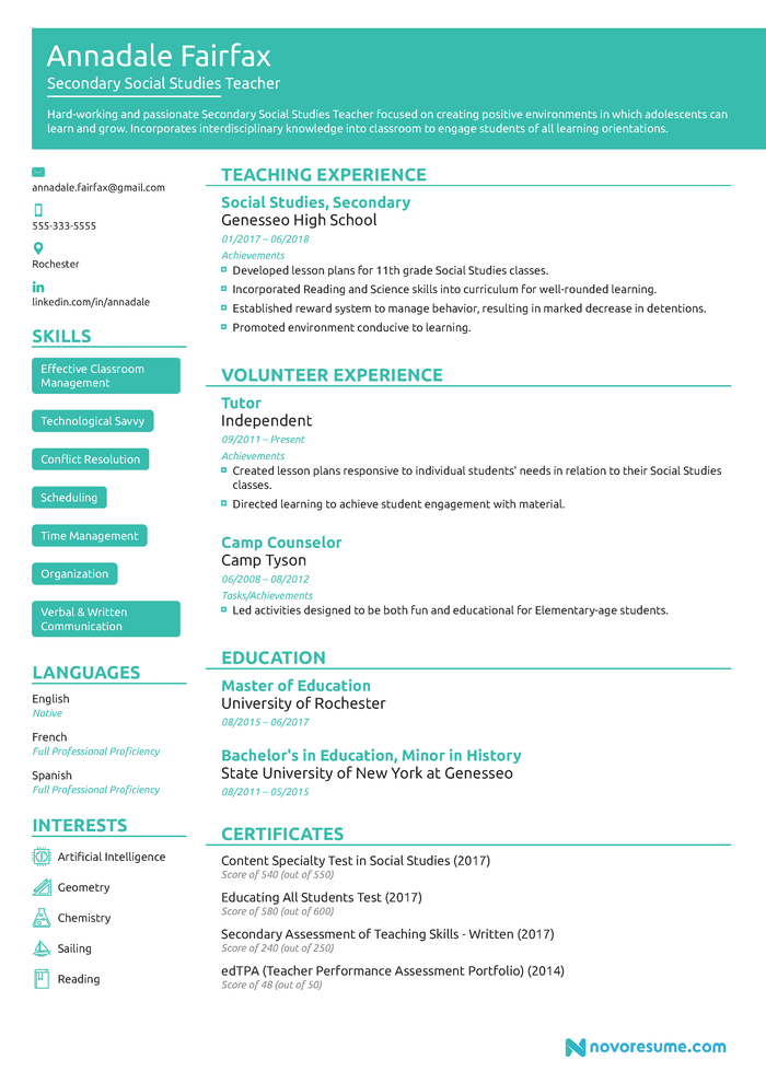 the best teaching cv examples and templates