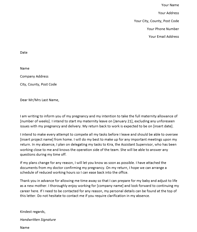 Resignation Letter For Pregnant from cdn0.careeraddict.com
