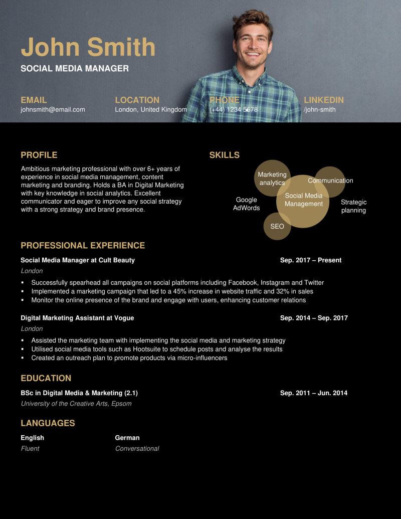 the 10 best digital marketing cvrésumé examples